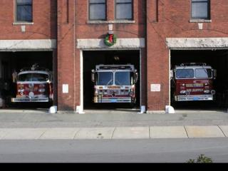 Pictured here are (from left to right) Engine 20, Lighting Plant 2 and the Air Supply Unit.