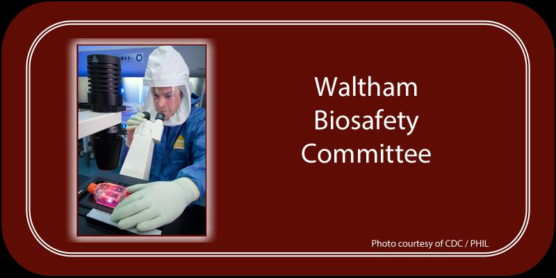 Waltham Biosafety Committee (WBC)