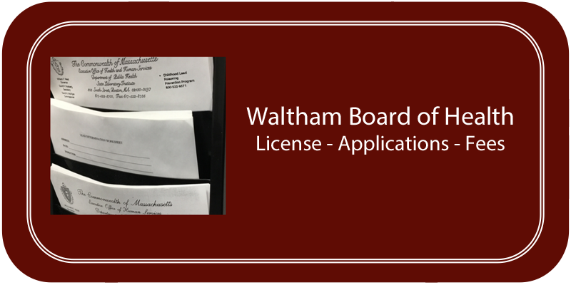 License Applications & Fees